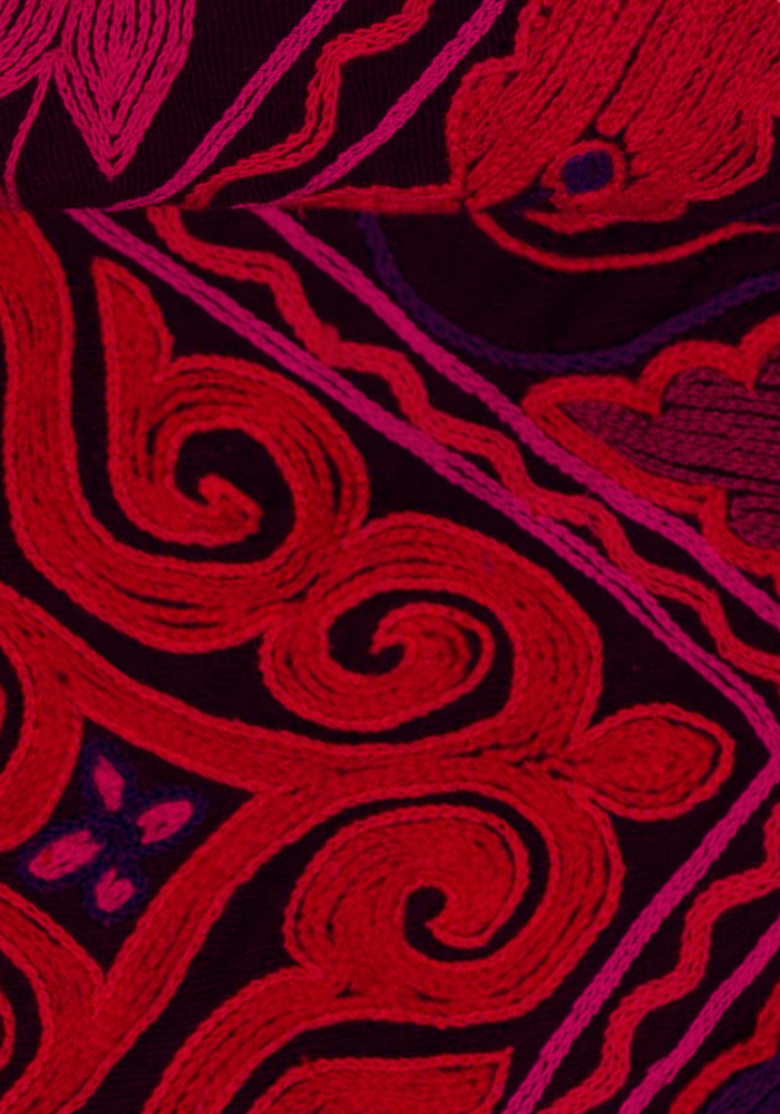 Textile in red