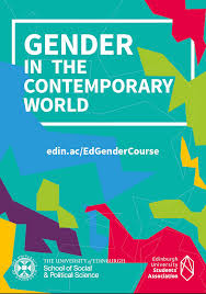 Understanding Gender in the Contemporary World promotional tile, with a geometric design.