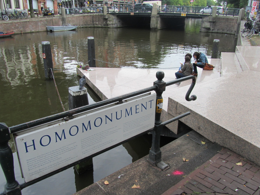 The 'homomonument' memorial in Amsterdam.