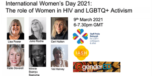 Women in HIV and LGBTQ+ Activism Poster